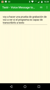 PixworD. Voz a texto. Transcribiendo.