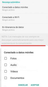 02 Ajustes - Liberar memoria whatsapp