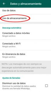03 Uso almacenamiento - Liberar memoria whatsapp