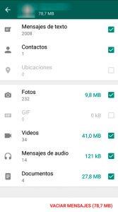 05 Uso almacenamiento - Liberar memoria whatsapp