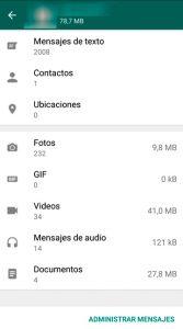 06 Uso almacenamiento - Liberar memoria whatsapp